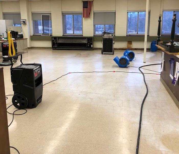 Water Damage At High School After